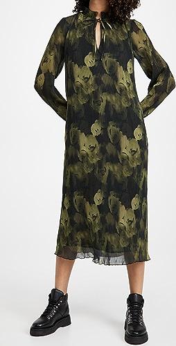 GANNI - Pleated Georgette Dress