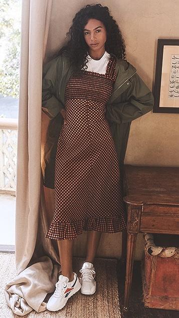 GANNI Seersucker Check Dress