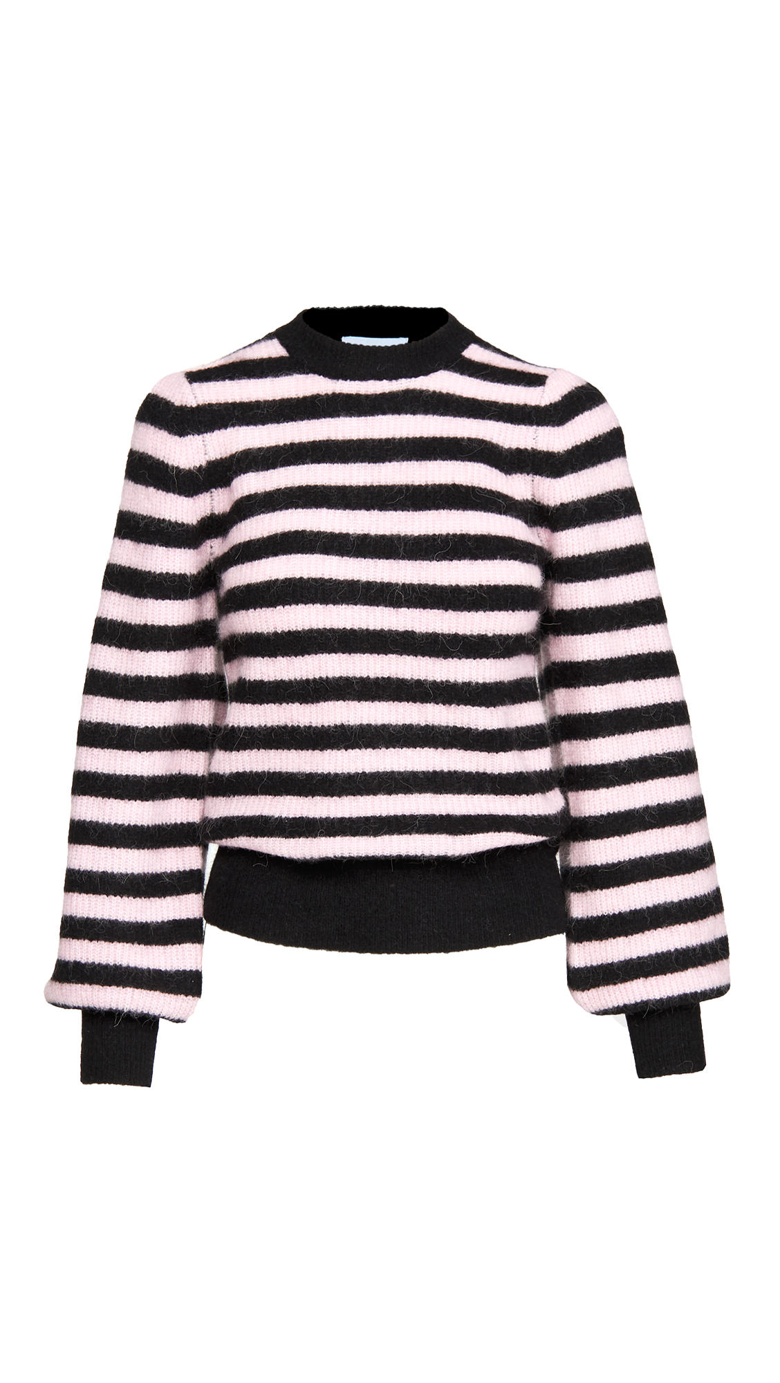 GANNI Soft Wool Knit Pullover Sweater