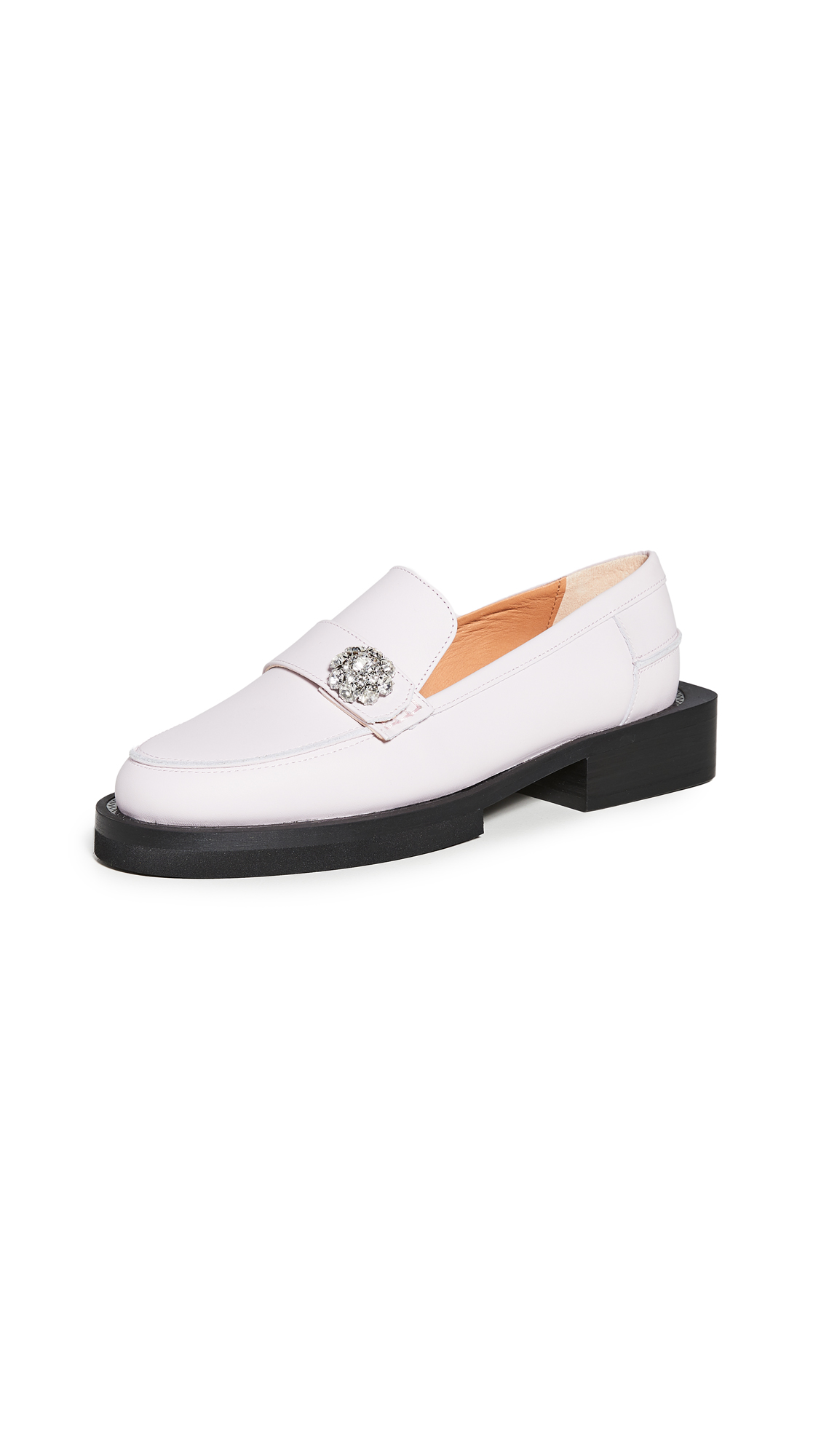 Ganni Leathers JEWEL LOAFERS