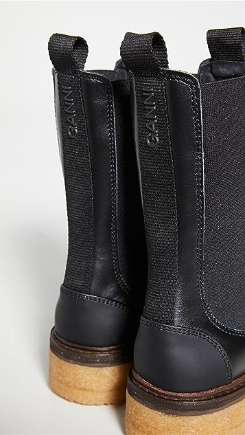 GANNI 长至小腿中部的靴子