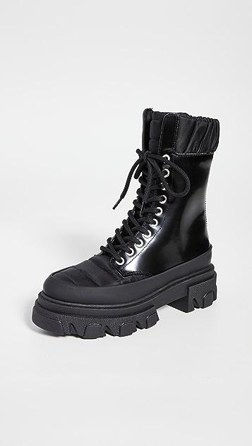 GANNI 越野鞋底军旅靴