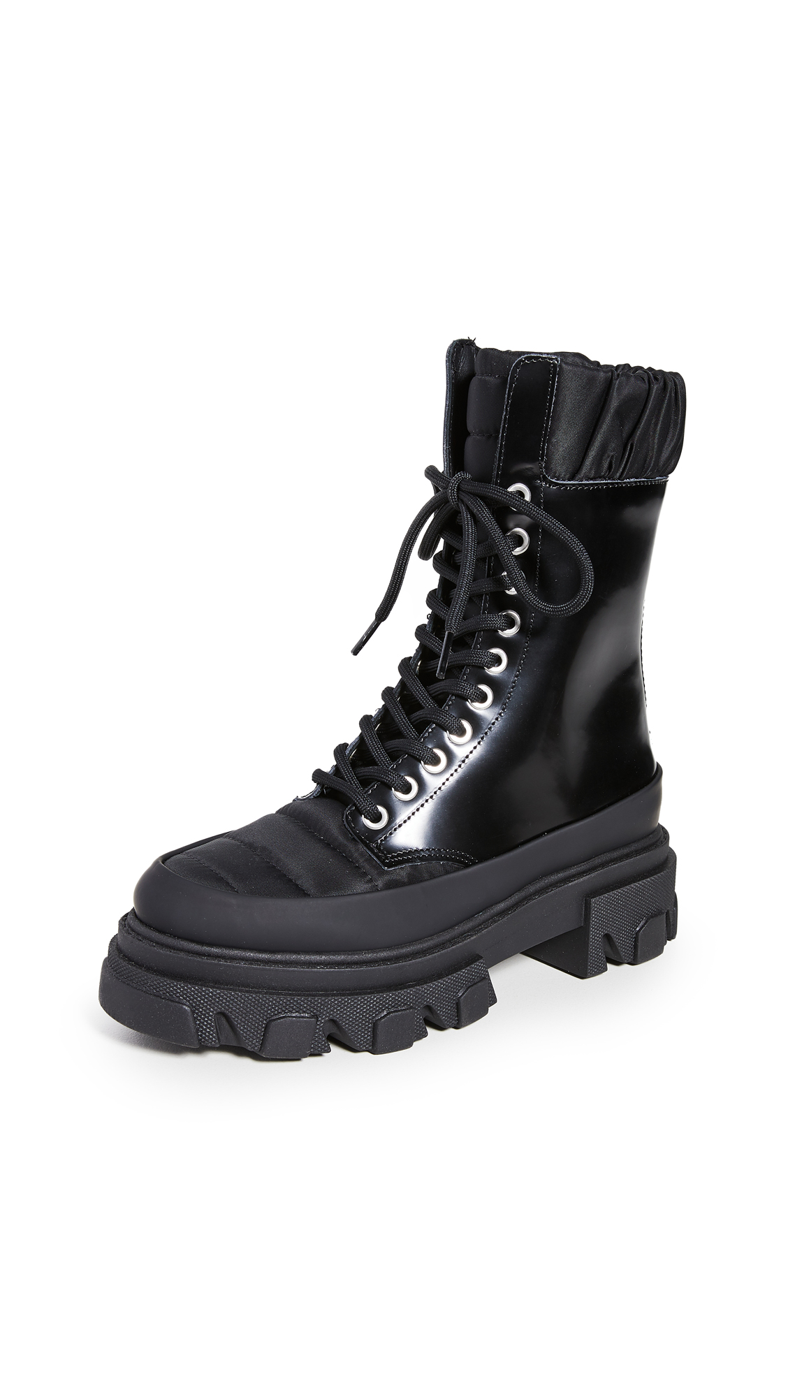 Ganni Ankle highs TRACK SOLE COMBAT BOOTS