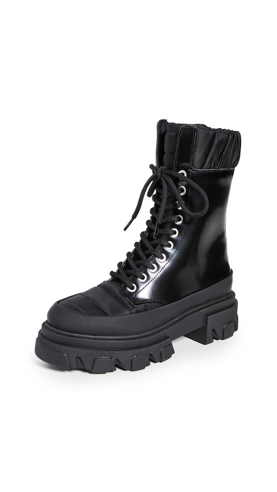 GANNI Track Sole Combat Boots