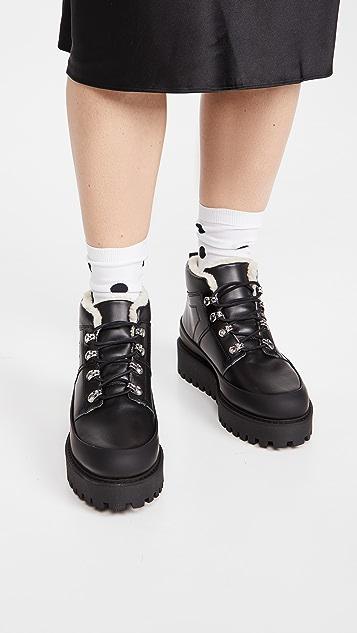 GANNI 厚底登山靴