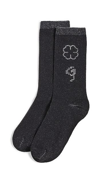 GANNI 聚酰胺金属丝线混纺袜子