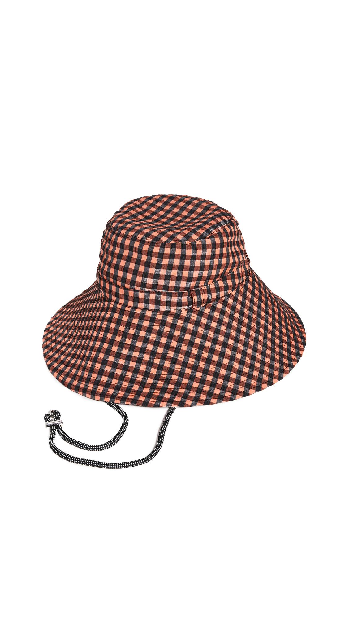 GANNI Seersucker Check Hat