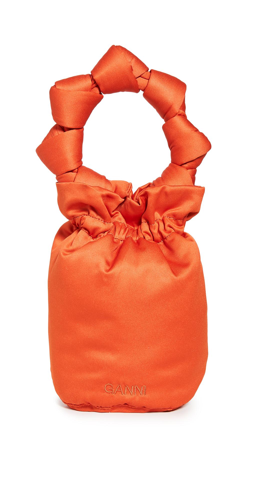GANNI Satin Knot Bucket Bag