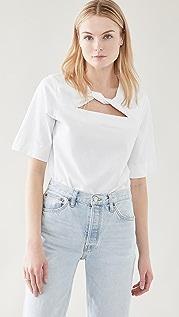 GANNI Basic Cotton Jersey Top