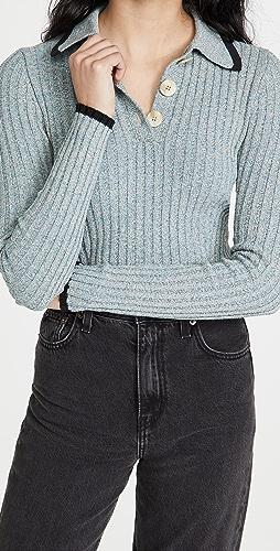 GANNI - 亚麻针织毛衣
