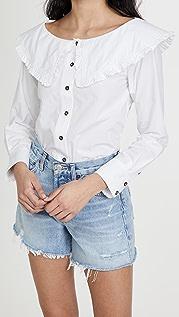 GANNI 棉质府绸衬衫