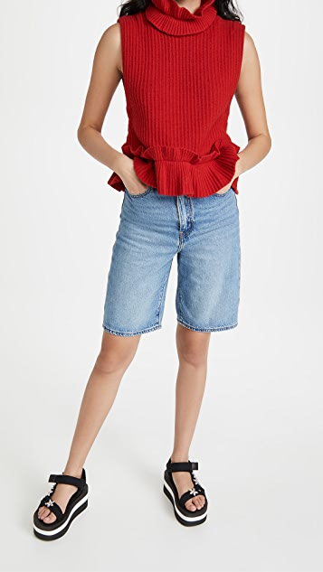 GANNI 罗纹针织毛衣