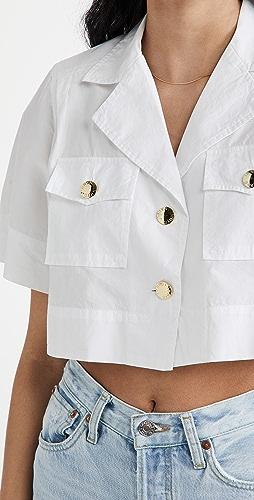 GANNI - 棉质府绸衬衫