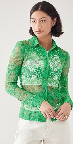 GANNI - Lace Shirt