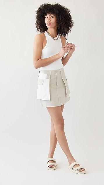 GANNI Linen Skirt