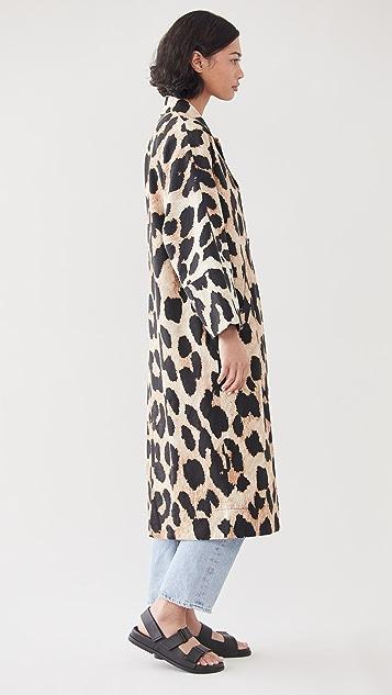 GANNI Linen Canvas Coat