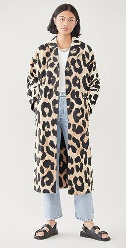 GANNI - Linen Canvas Coat