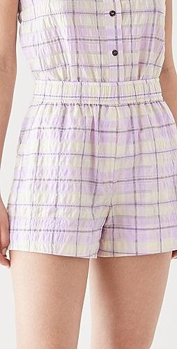 GANNI - Seersucker Check Shorts