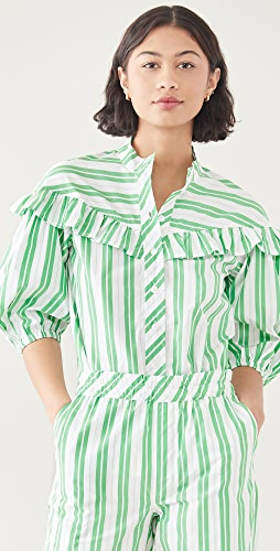 GANNI - Stripe Cotton Shirt