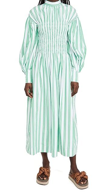 GANNI Stripe Cotton Dress