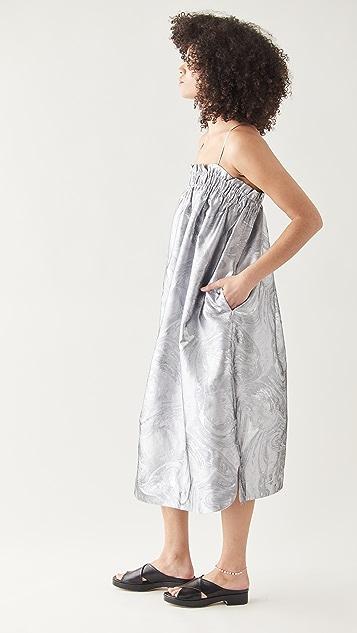 GANNI Shiny Jacquard Dress