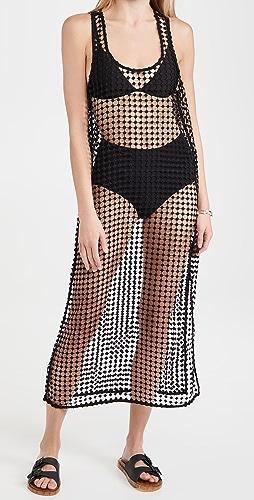 GANNI - Grid Lace Dress