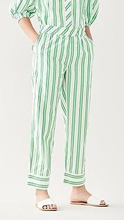 GANNI Stripe Cotton Pants