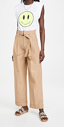 GANNI - Cotton Canvas Pants