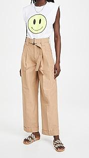 GANNI 棉质帆布长裤