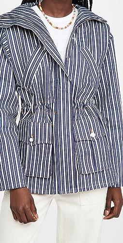 GANNI - Mixed Stripe Denim Jacket