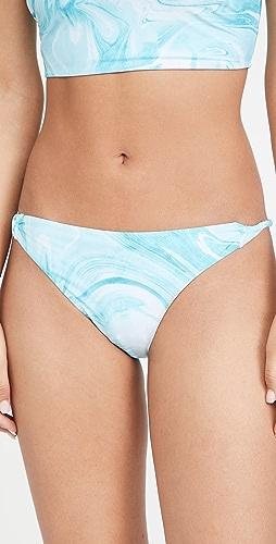 GANNI - Recycled Printed Bikini Bottoms
