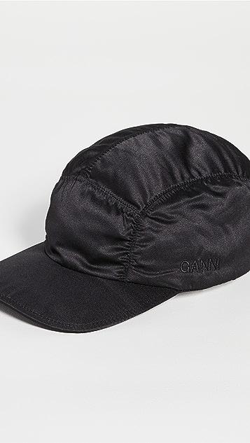 GANNI Satin Baseball Cap