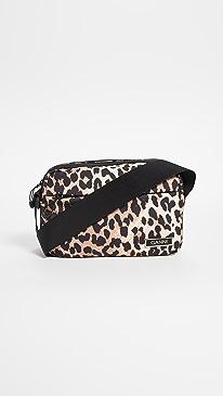 Ganni Tech Crossbody Bag,Leopard
