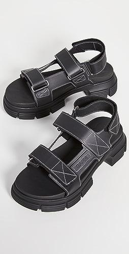 GANNI - 再生橡胶凉鞋