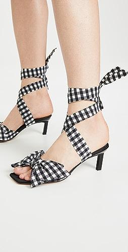 GANNI - 蝴蝶结高跟凉鞋