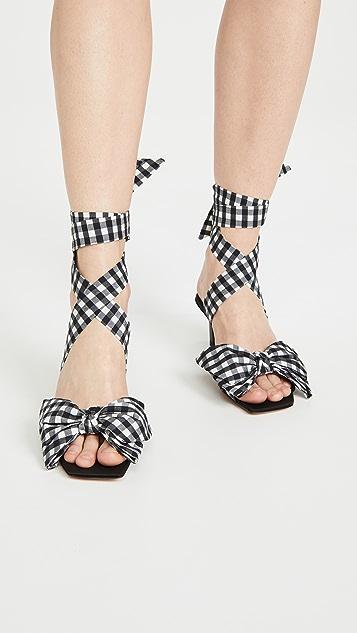 GANNI 蝴蝶结高跟凉鞋