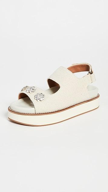 GANNI 装饰中跟凉鞋
