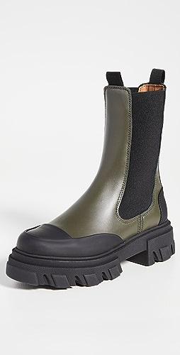 GANNI - Mid Chelsea Boots