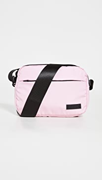 Ganni Recycled Tech Fabric Crossbody Bag,Pink Nectar