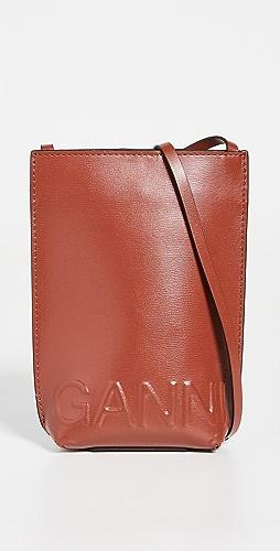 GANNI - Recycled Leather Crossbody Bag