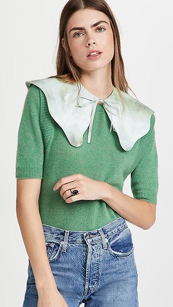 GANNI Printed Cotton Poplin Collar