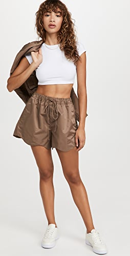 GANNI - Outerwear 尼龙短裤