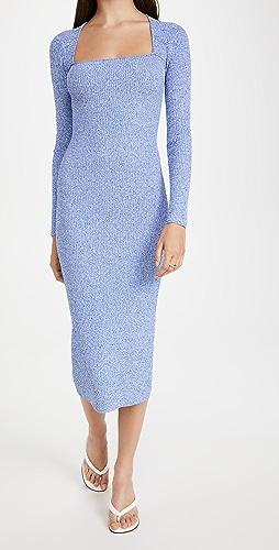 GANNI - Melange Knit Dress