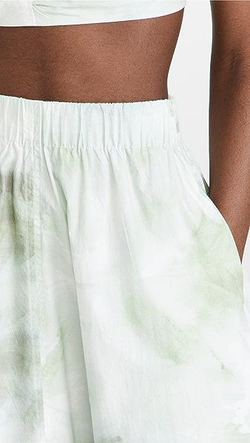 GANNI Printed Cotton Poplin Maxi Skirt