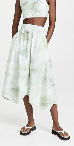 GANNI - 印花棉府绸半身长裙