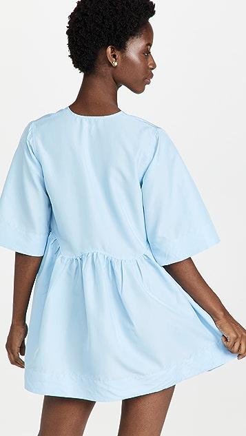 GANNI Crispy Taffeta Wrap Dress