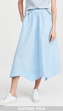 Ganni Crispy Taffeta Skirt,Airy Blue