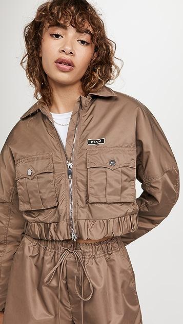 GANNI Outerwear Nylon Bomber Jacket