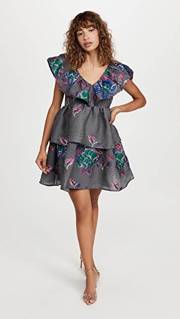 GANNI 挺括提花织物连衣裙