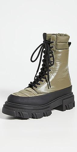 GANNI - Track Sole Combat Boots